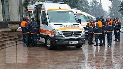 Substaţia de Urgenţă din sectorul Centru al Capitalei a primit opt ambulanţe noi