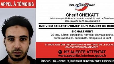 Suspectul principal al ATACULUI SÂNGEROS din Strasbourg, în libertate. Sute de poliţişti, militari şi agenţi ai poliţiei de frontieră caută atacatorul