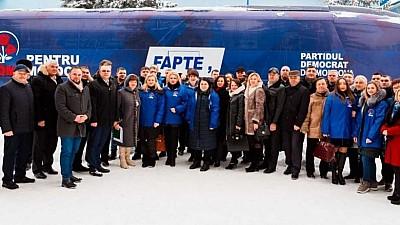 Caravana electorală a PDM a ajuns la Ialoveni. Oamenii de afaceri din raion le-au spus democraților că vor o zonă economică liberă