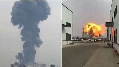 EXPLOZIE la o uzină chimică din estul Chinei. Cel puțin ase oameni AU MURIT, iar alți 30 au fost răniţi