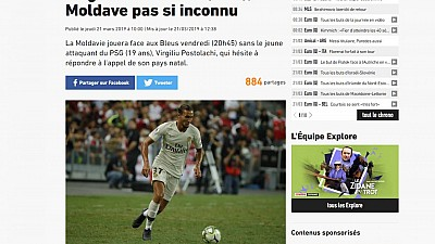 Meciul Moldova - Franța, în atenția presei internaționale. Jurnaliștii îi sfătuiesc pe campionii mondiali să nu-și subminze adversarii