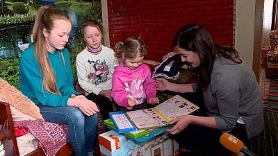 Startul Campaniei de Paște. Echipa Edelweiss a făcut primul popas la surorile Rusu din raionul Cimișlia, crescute doar de tată