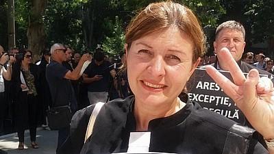 Angela Istrate, avocata lui Gheorghe Petic, susţine că este atacată de membrii şi susţinătorii blocului politic condus de binomul Sandu-Năstase