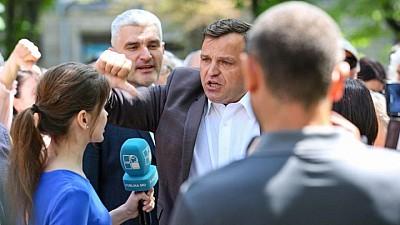 Liderul PPDA, Andrei Năstase, a atacat reporterul Publika TV şi a folosit un limbaj obscen