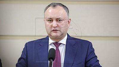 Igor Dodon: Eu sunt pentru relaţii bune cu fraţii noştri români