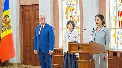 Olesea Stamate a fost învestită în funcţia de ministru al Justiţiei