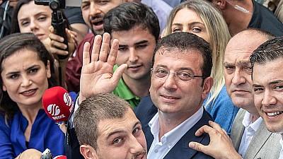 Candidatul partidului de opoziţie din Turcia, Ekrem Imamoglu, primar la Istanbul