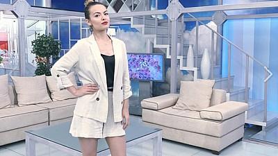 Anna Odobescu cântă despre visele ei în platoul de la PRIMA ORĂ