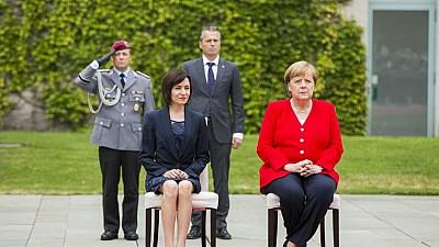 Premierul moldovean, Maia Sandu, s-a întâlnit cu cancelarul german, Angela Merkel la Berlin