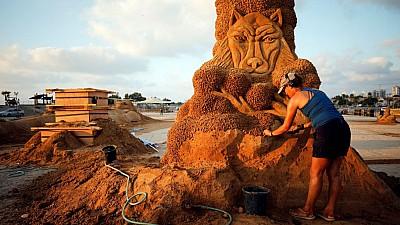 Imaginea zilei: Un festival al sculpturilor în nisip s-a desfășurat din sudul Israelului